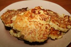 potato pancakes up close