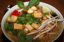 vegetarian pho up close