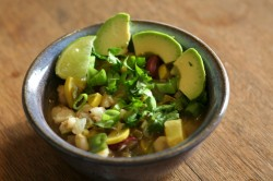 Posole - a hearty Mexican soup made with hominy
