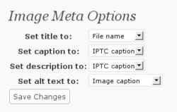 Image meta options