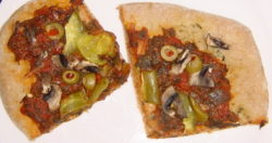 Whole wheat vegan pizza