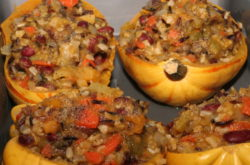 Stuffed squash close-up